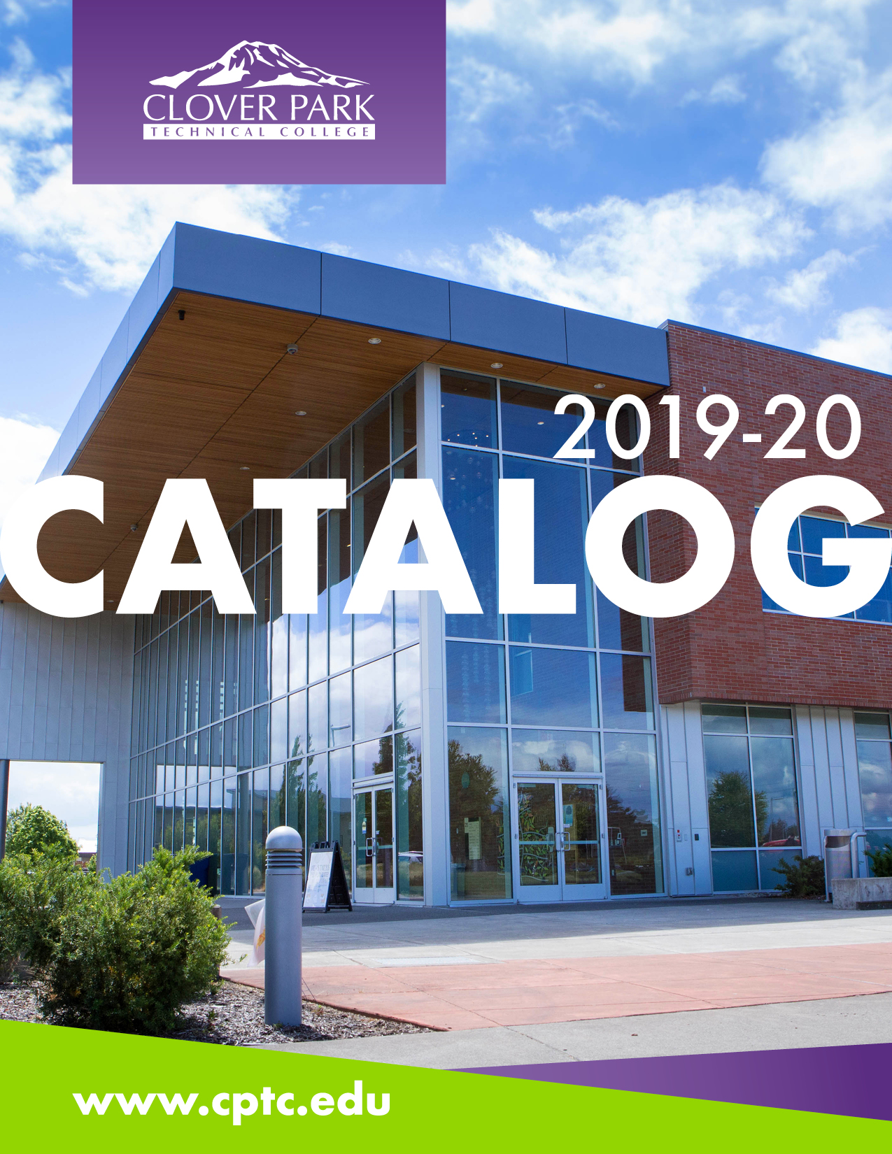 Image of campus building. Text: 2019-20 CATALOG